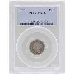 1879 3 Cent Nickel Proof Coin PCGS PR66