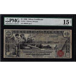 1896 $1 Educational Silver Certificate Note Fr.224 PMG Choice Fine 15 Net
