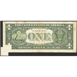 1985 $1 Federal Reserve Note Fold Over ERROR