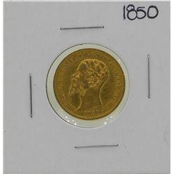 1850 Italy 20 Lira Gold Coin