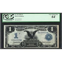 1899 $1 Black Eagle Silver Certificate Note Fr.229 PCGS Choice New 64
