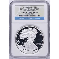 2011-W $1 American Silver Eagle Coin NGC PF70 Ultra Cameo
