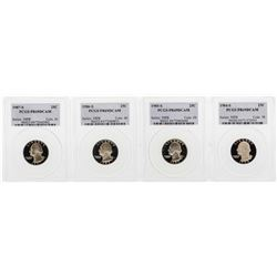 Set of 1984-S to 1987-S Washington Quarter Coins PCGS PR69DCAM