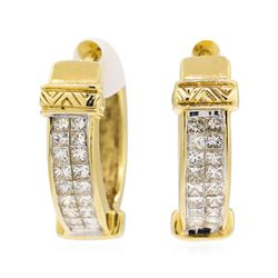 14KT Yellow Gold 1.60 ctw Diamond Earrings