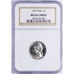 1967 SMS Jefferson Nickel Coin NGC MS66 Cameo
