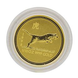 1998 $15 Australia Lunar Year of the Tiger 1/10 oz. Gold Coin