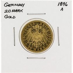 1896-A Germany 20 Mark Gold Coin