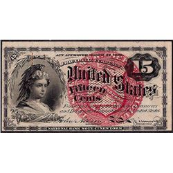March 3, 1863 Fourth Issue Fifteen Five Cent Fractional Currency Note