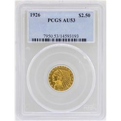 1926 $2 1/2 Indian Head Quarter Eagle Gold Coin PCGS AU53