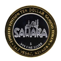 .999 Silver Sahara Las Vegas, Nevada $10 Casino Limited Edition Gaming Token