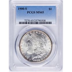 1900-S $1 Morgan Silver Dollar Coin PCGS MS65