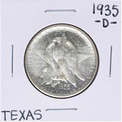 1935-D Texas Independence Centennial Commemorative Half Dollar Coin