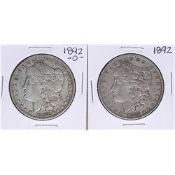 Lot of 1892 & 1892-O $1 Morgan Silver Dollar Coins