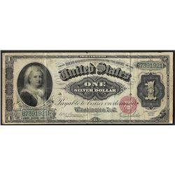 1886 $1 Martha Washington Silver Certificate Note Fr.215