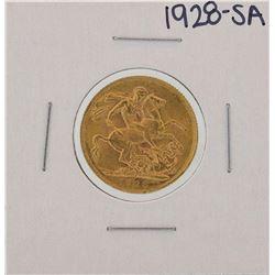 1928-SA Pretoria Australian Sovereign Gold Coin