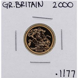 2000 Great Britain Elizabeth II 1/2 Sovereign Gold Coin