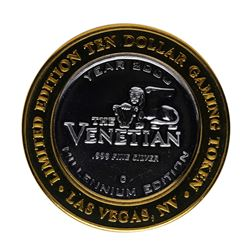 .999 Silver The Venetian Las Vegas, Nevada $10 Casino Limited Edition Gaming Tok