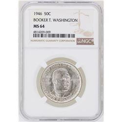 1946 Booker T. Washington Memorial Half Dollar Coin NGC MS64
