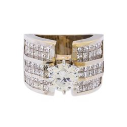 18KT White Gold 5.63 ctw Diamond Engagement Ring