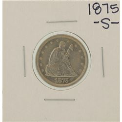1875-S Twenty Cent Piece Coin
