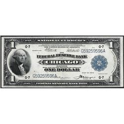 1918 $1 Federal Reserve Note Chicago
