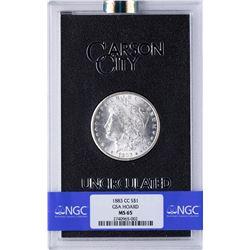 1883-CC $1 Morgan Silver Dollar Coin GSA NGC MS65