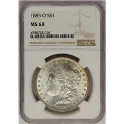 1885-O $1 Morgan Silver Dollar Coin NGC MS64 Nice Toning