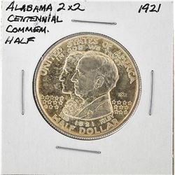 1921 Alabama 2x2 Centennial Commemorative Half Dollar Coin