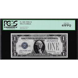 1928A $1 Funnyback Silver Certificate Note Fr.1601 PCGS Gem New 65PPQ