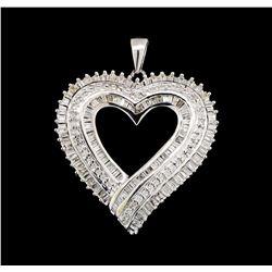 10KT White Gold 0.50 ctw Heart Shape Pendant