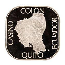 Casino Colon Quito Ecuador 21 gram .925 Sterling Silver Gaming Token