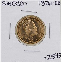 1876-EB Sweden 2 Kroner Gold Coin