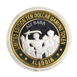 .999 Silver Aladdin Resort Casino $10 Casino Limited Edition Gaming Token