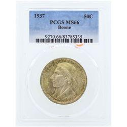 1937 Boone Commemorative Half Dollar Coin PCGS MS66