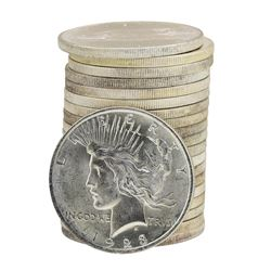 Roll of (20) 1923 $1 Brilliant Uncirculated Peace Silver Dollar Coins