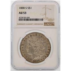 1888-S $1 Morgan Silver Dollar Coin NGC AU53