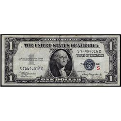 "1935A $1 Experimental ""S"" Silver Certificate Note"
