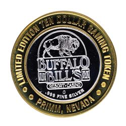 .999 Silver Buffalo Bills Resort & Casino Primm, NV $10 Limited Edition Gaming T