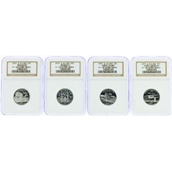 Lot of (4) 2001-S State Silver Quarter Coins NGC PF69 Ultra Cameo