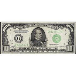 1934A $1,000 Federal Reserve Note Chicago