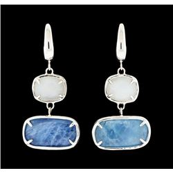 Multi-Color Stone Earrings - 14KT Yellow Gold