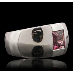 18KT White Gold 1.40 ctw Pink Tourmaline Ring