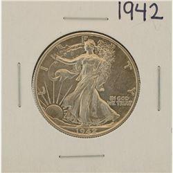 1942 Walking Liberty Half Dollar Proof Coin