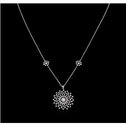 0.78 ctw Diamond Necklace - 14KT White Gold
