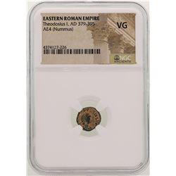 Theodosius l 379-395 AD Ancient Eastern Roman Empire NGC VG