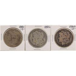 Lot of 1881-S, 1882 & 1883-O $1 Morgan Silver Dollar Coins