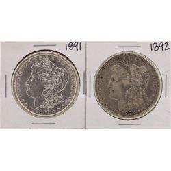 Lot of 1891-1892 $1 Morgan Silver Dollar Coins