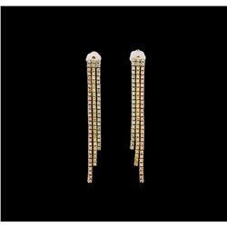 14KT Tri-Color Gold 0.75 ctw Diamond Earrings