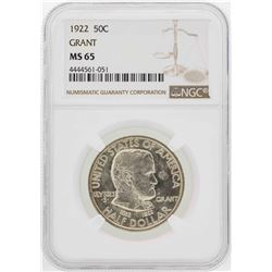 1922 Grant Memorial Commemorative Half Dollar Coin NGC MS65