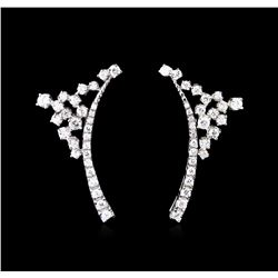 2.28 ctw Diamond Earrings - 14KT White Gold